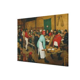Bondaktigt bröllop, 1568 canvastryck