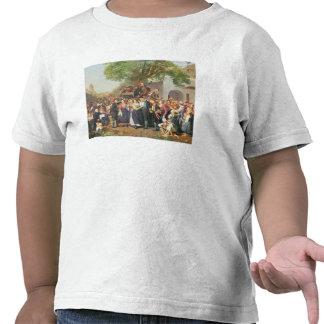 Bondaktigt bröllop i lägre Österrike olja på kanf T Shirts