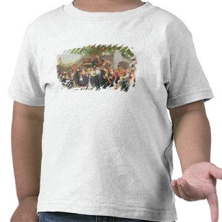 Bondaktigt bröllop i lägre Österrike (olja på T-shirt