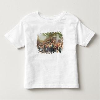 Bondaktigt bröllop i lägre Österrike (olja på T-shirts