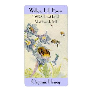 Bönder marknadsför blommor för bin för fraktsedel