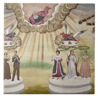 Böner till gudarna för befrielsen av Grekland, Kakelplatta