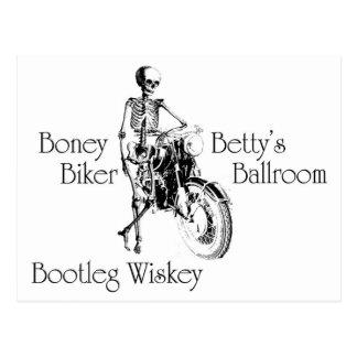Boney Bettys Bootleg Wiskey för bikerbalsal Vykort