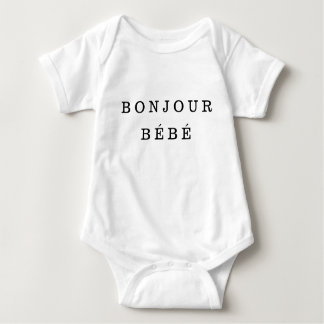 """Bonjour Bébé"" Jersey babyBodysuit Tee Shirt"