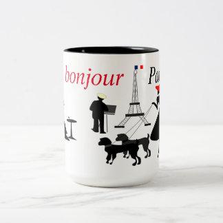 Bonjour Paris Två-Tonad Mugg