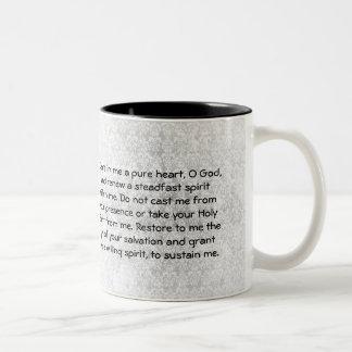 Bönmugg för Psalm 51 Två-Tonad Mugg
