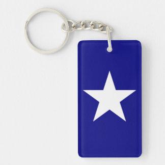 Bonnie blåttflagga med den Lone Nyckelringar