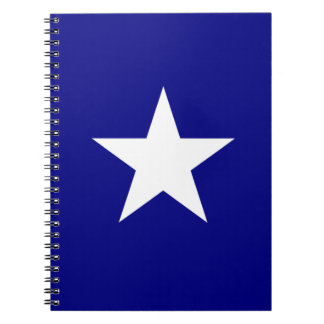 Bonnie blåttflagga med den Lone Spiralbundna Anteckningsböcker