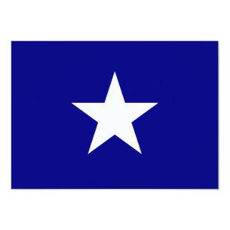 Bonnie blåttflagga med Lone vitstjärnainbjudan 12,7 X 17,8 Cm Inbjudningskort