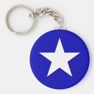 Bonnie blåttflagga rund nyckelring