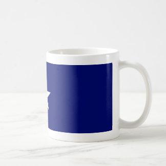 Bonnie blåttflaggamugg vit mugg