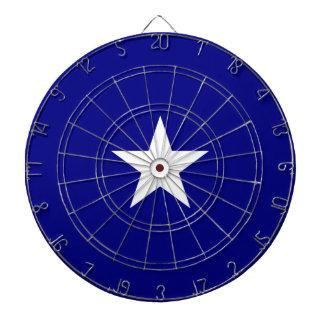 Bonnie stjärna för blåttflaggavit darttavla