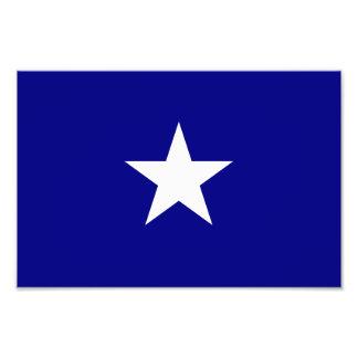 Bonnie stjärna för blåttflaggavit foton