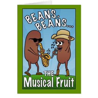 Bönor bönor, den musikaliska frukten hälsningskort