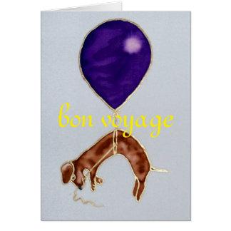 Bonresa, tax och ballonghälsningkort hälsningskort