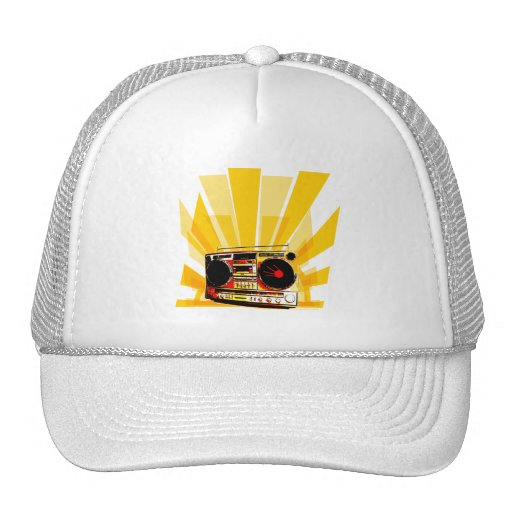 Boombox grafiska hattar keps