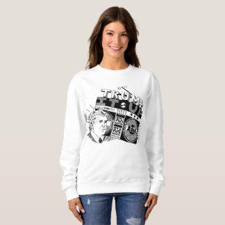 Boombox TRUMF DET UPP den Crewneck tröjan T Shirt