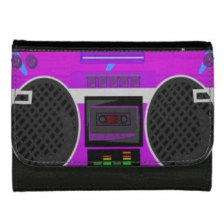Boomin purpurfärgad 80-tal Boombox