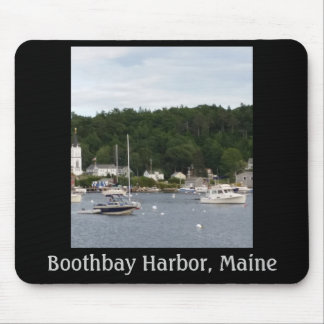 Boothbay hamn, Maine fartyg Mousepad Musmatta