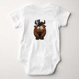 Bootie framåt babyBodysuit Tee Shirt