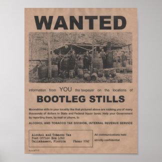 Bootlegstillbildaffisch Poster