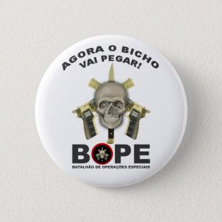 BOPE - Brasiliansk polis Standard Knapp Rund 5.7 Cm
