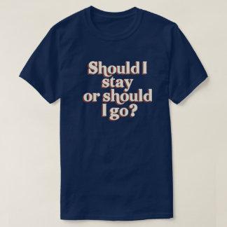 Bör bör I-staget eller mig gå? Retro grafiskt Tshirts