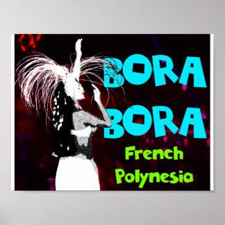 Bora Bora kvinnlig dansareaffisch Poster