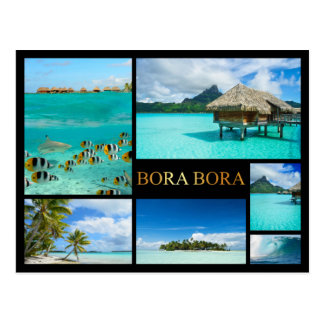 Bora Bora lyxig collagevykort Vykort