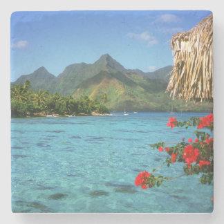 Bora Bora ö, franska Polynesia Stenunderlägg