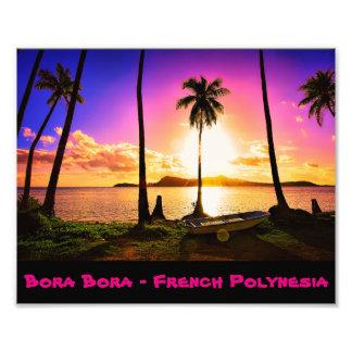 Bora Bora solnedgång Fototryck