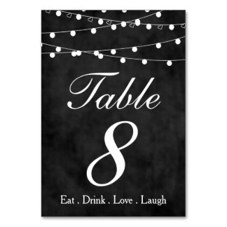 Bord 8 för party för för svart tavlafeljus & bordsnummer
