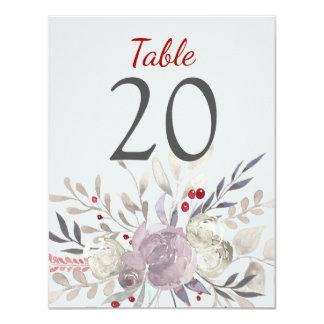 Bord för bröllop för blom- vattenfärg för vintage 10,8 x 14 cm inbjudningskort
