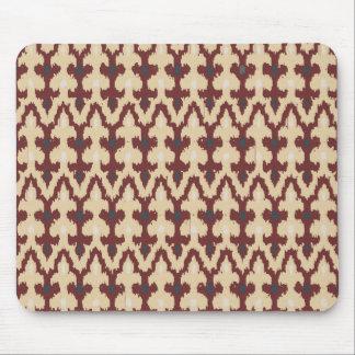 Bordeaux solbränd geometrisk Ikat stam- prydnad Musmatta
