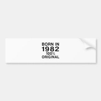 Bördig 1982 bildekal