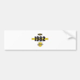 bördig 1982 (choco&yellow) bildekal