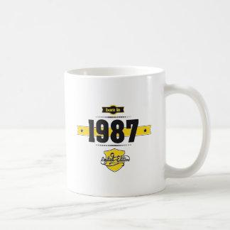 bördig 1987 (choco&yellow) vit mugg