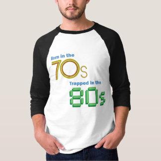 Bördigt 70-tal som fångas i 80-talbaseballskjortan tshirts