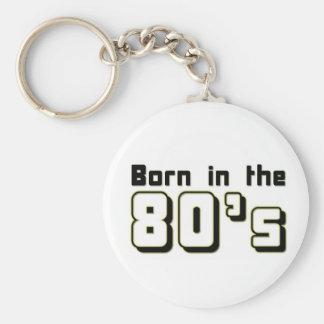 Bördigt 80-tal nyckel ring