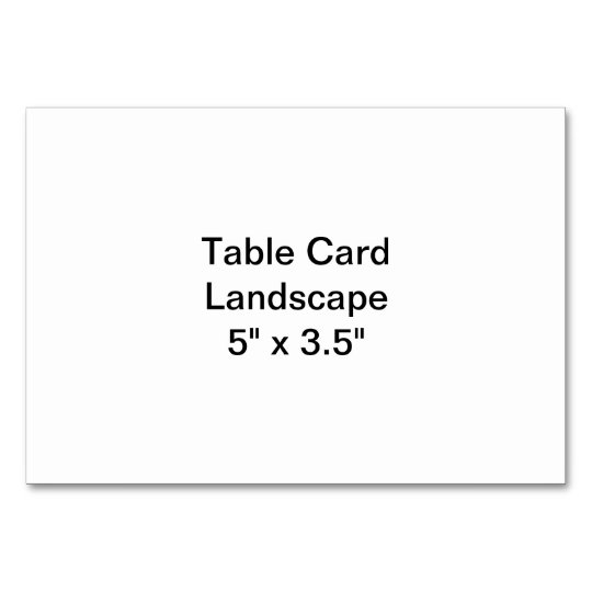 Horisontell 9 x 13 cm Placeringskort, Basic