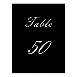 Bordsnummer 50 vykort