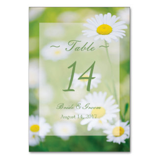 Bordsnummer för sommar för daisydaisyblomma blom-