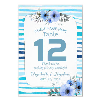 Bordsnummer för ställe för bröllop för 8,9 x 12,7 cm inbjudningskort