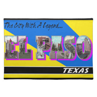 Bordstablett för brev för El Paso Texas vintage Re