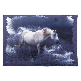 Bordstablett för fantasivithäst & havsurfa