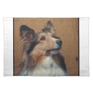 Bordstablett för hund för Shetland Sheepdog