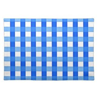 Bordstablett - kontrollerade blått och vit