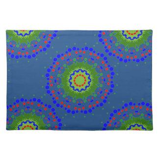 Bordstablett med färgrika Mandalas