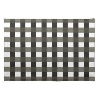 Bordstablett med svartgrått- och vitkontroller