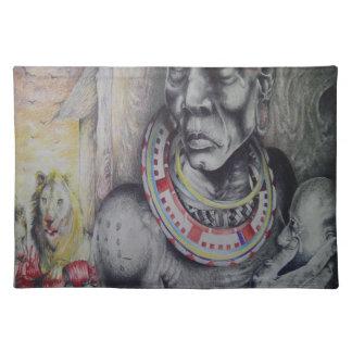 Bordstabletter för Masai för personligHakuna Underlägg